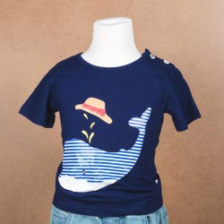 Cute T-Shirt Children Super Whale